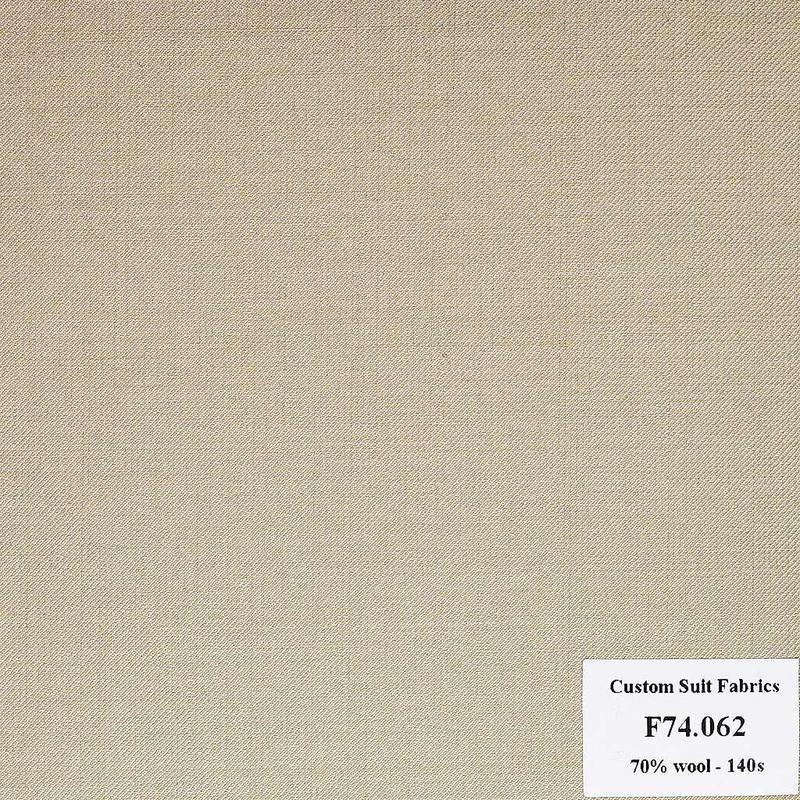 F74.062 Kevinlli V6 - Vải Suit 70% Wool - Nâu Trơn