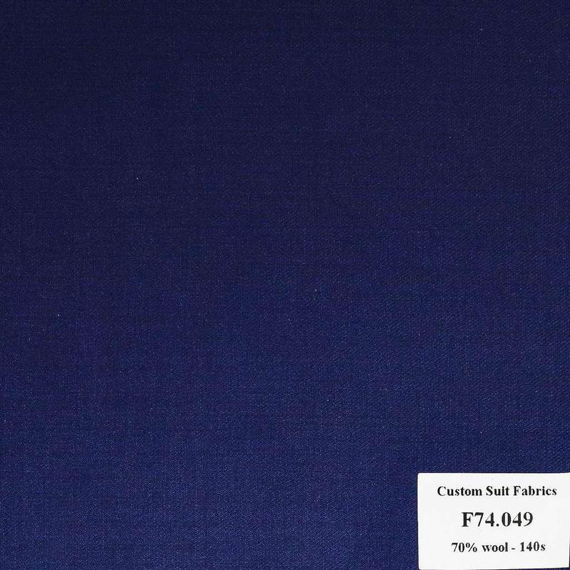 [ Hết hàng ] F74.049 Kevinlli V6 - Vải Suit 70% Wool - Xanh Dương Trơn