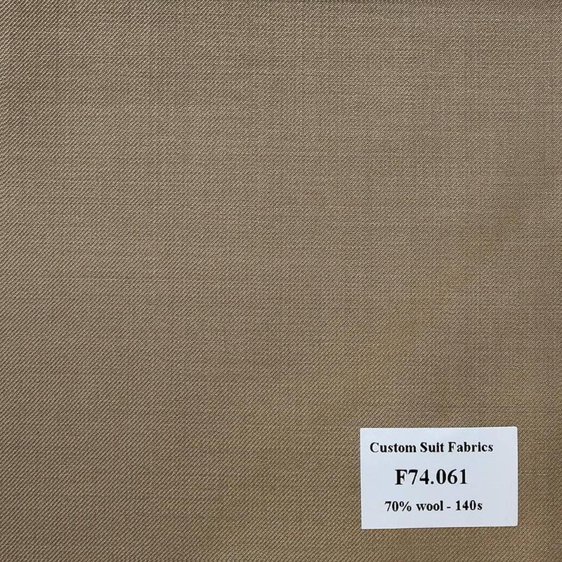 F74.061 Kevinlli V6 - Vải Suit 70% Wool - Nâu Trơn