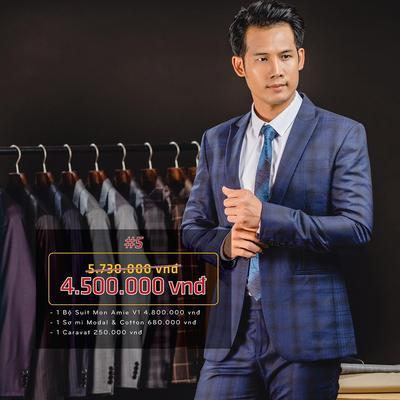 Combo 5: Bộ Suit Mon Amie 50% Wool
