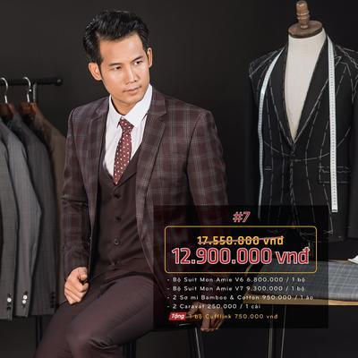 Combo 7: 2 bộ Suit Italia cao cấp