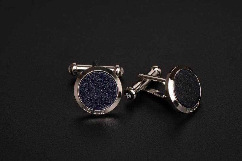 Bộ Cufflink Mon Amie Dark Blue MA01