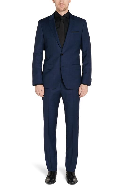 Vest màu xanh xám caro 2 nút thời trang