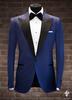 Tuxedo xanh dương 1 nút đơn giản